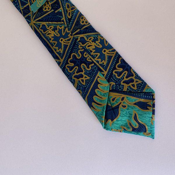 corbata azul agua